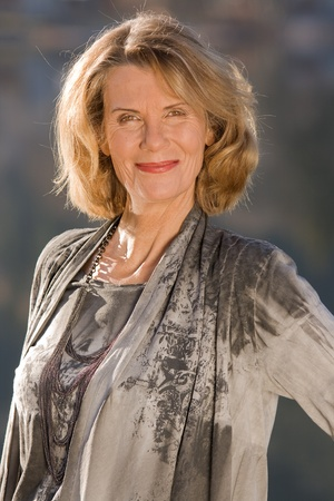 Portrait of a fashionably-dressed older woman
