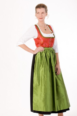 Elderly lady in Bavarian festive costume