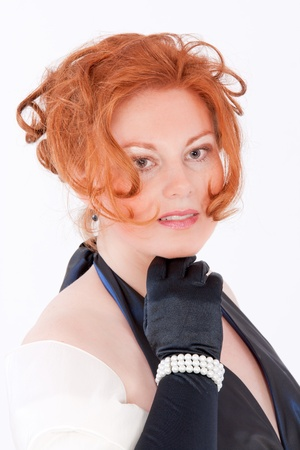 redheaded: Portrait of an elegant red-headed Plus Size Model