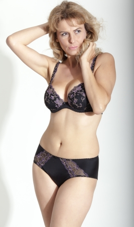 sexy woman in lingerie romantic