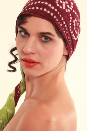 Picture an alternative woman with headscarf  photo