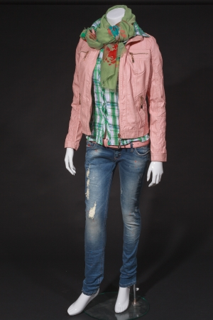 spring fashion: Trendy Italian spring fashion for young people on a mannequin Stock Photo