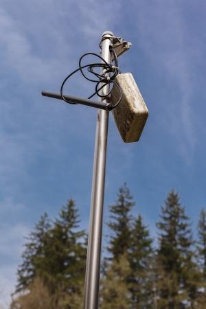 Level probe to measure weather data Stock Photo