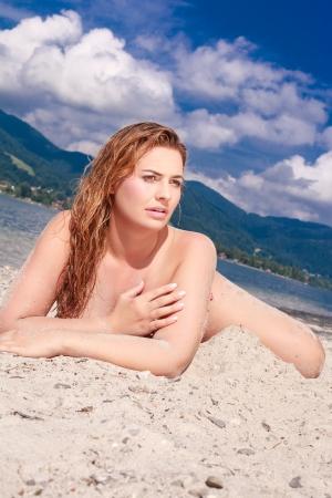 Chubby women on the beach