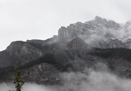 Mistig berg
