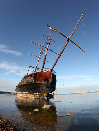 abandoned: Abandoned Ship Stock Photo