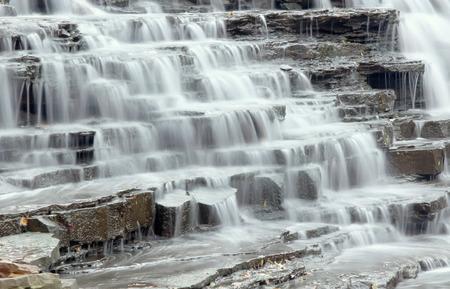 カスケード滝 写真素材