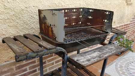 A rugged barbecue