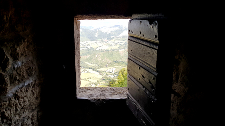 Castle rusted jail view