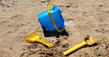 Colored beach boys on the Senigallia's beach in Italy Standard-Bild - 107541915