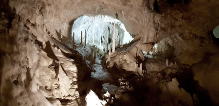 Frassassi's cave with stalactities