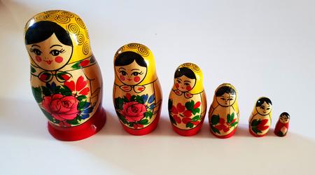Series of russian matrioska Standard-Bild - 105981462