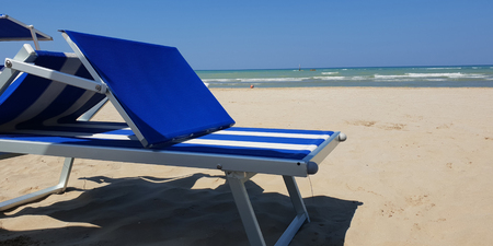 A sunny day in total relaxation on the Italian adriatic beach