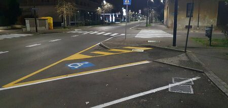 Car parking with invalid parking in the night street