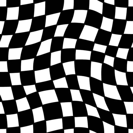 printables: Seamless geometric pattern. Checkered waves in black and white. Graphic design element for web sites, stationary printables, fabric, scrapbooking etc. Illustration