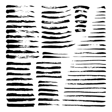 printables: Mega set of ink brushes. Hand painted with black ink. Graphic design element for web sites, stationary printables, fabric, scrapbooking etc.
