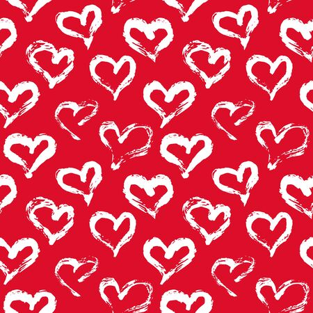 printables: Seamless heart pattern. Hand painted with ink. Graphic design element for web sites, stationary printables, fabric, scrapbooking etc.