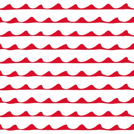printables: Seamless nautical pattern. Hand painted ink waves in red and white. Graphic design element for web sites, stationary printables, fabric, scrapbooking etc.