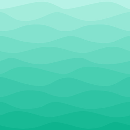 gradual: Gradual wavy blue turquoise background Illustration