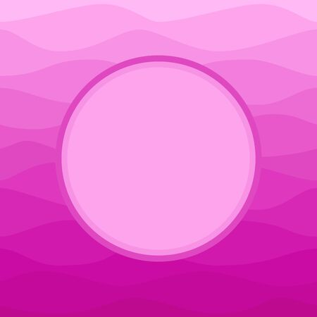 ombre: Round label on ombre blue background Illustration