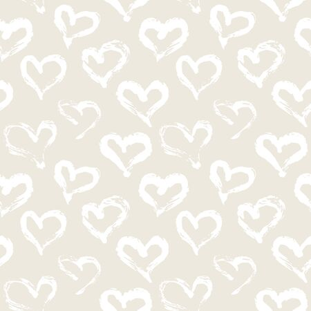 printables: Seamless heart pattern. Hand painted with ink. Graphic design element for web sites, stationary printables, fabric, scrapbooking etc.  illustration