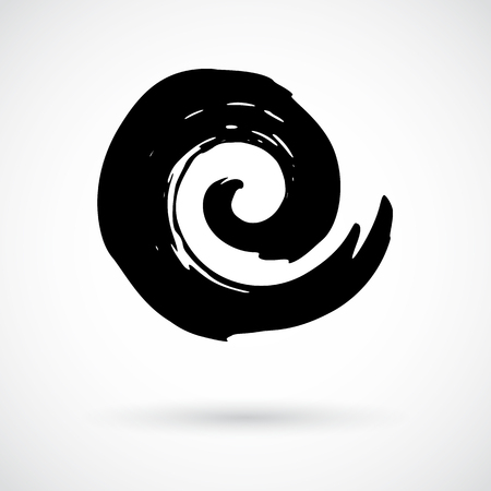 Hand Painted Swirl Symbol Royalty Free Cliparts Vectors And Stock