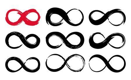 Infinity symbol ink brush stroke