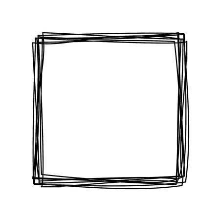 Grungy scribble square
