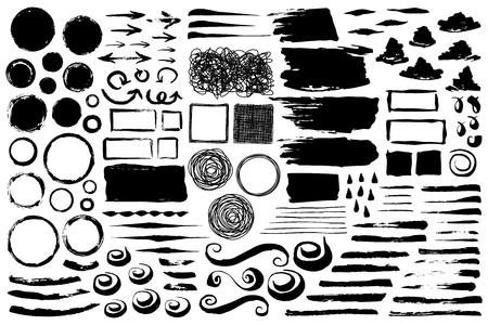 Satz abstrakter grungy Pinselstriche