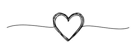 Griffonnage rond grungy emmêlé dessiné à la main avec une ligne fine, forme de diviseur. Isolé sur fond blanc. Illustration vectorielle