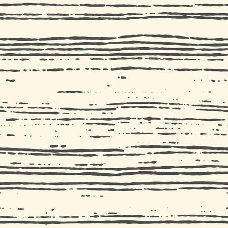 Patrón de rayas transparente pintado a mano con pincel de tinta. Textura grungy enlosable para fondos de pantalla sin fin. Ilustración vectorial Ilustración de vector