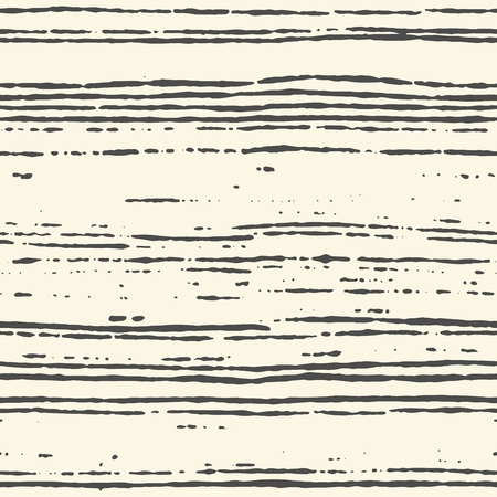 Seamless striped pattern hand painted with ink brush. Tileable grungy texture for endless wallpapers. Vector illustration