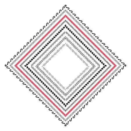 Doodle mandala decoration isolated on white background, hand drawn vector illustration Illusztráció