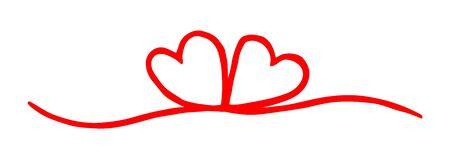 Corazón de San Valentín pintado a mano con pincel y tinta.