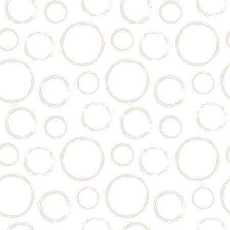 Seamless pattern with grunge circles