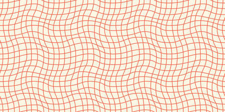 Seamless geometric pattern with woven and distorted checkers 矢量图像