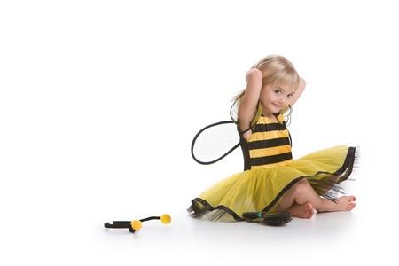 Cute Little Girl In Bee Costume Stock Photo - 4336783
