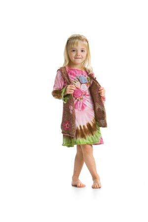 Little hippy girl smiling