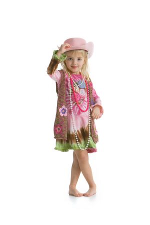 Smiling cowgirl Stock Photo - 4336766
