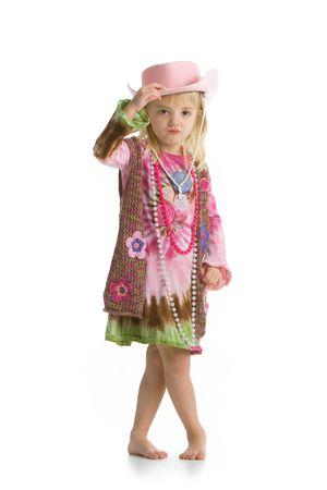 Little cowgirl 写真素材