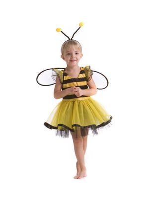 小さな女の子が蜂のコスチューム 写真素材 - 4336787