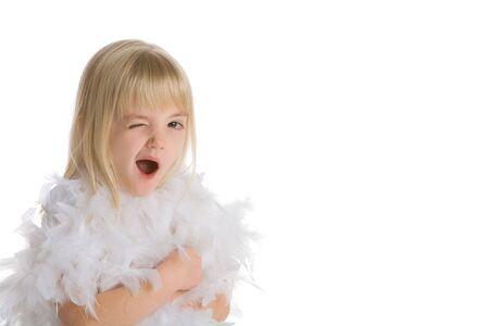 Little girl winking 写真素材