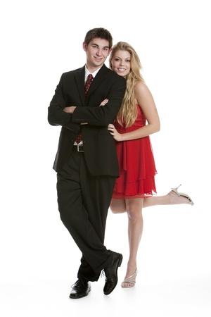10 代のカップルが林立で正式な衣服に身を包んだ 写真素材 - 8606286