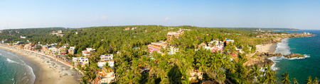 kovalam: View from the lighthouse at resort Kovalam, Kerala, India