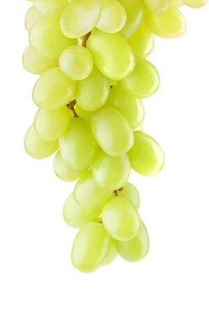 l agriculture: Bunch of ripe grapes on a white background