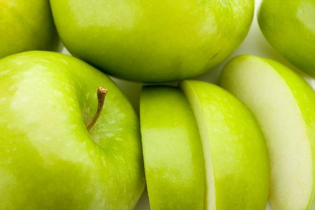 Close-up of fresh green apples