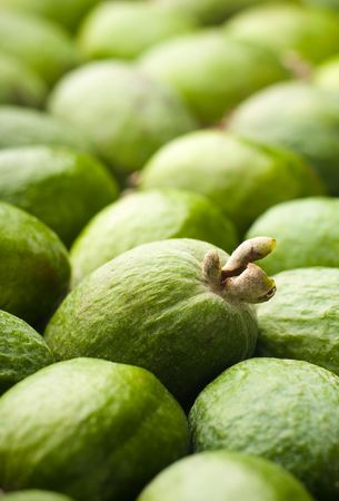 Feijoa fruits with a focus on one Stock Photo - 5838883