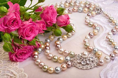 gewgaw: Roses and luxury closeup