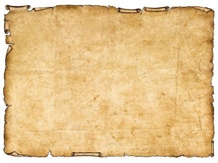 ragged: A piece of ancient paper with rough edges.