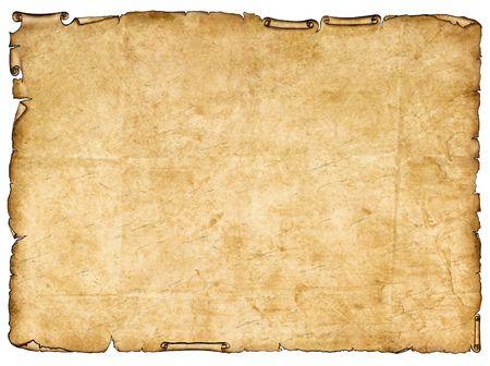 pergamino: Un trozo de papel antiguo con bordes �speros.